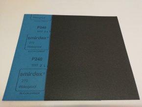 Smirkový papír arch  240 pod vodu