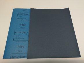 Smirkový papír arch  600 pod vodu