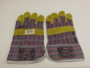 Pracovní rukavice - kombinace kůže a tkaniny (pár)
