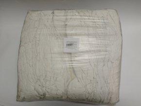 Lisovaný textil bavlna bílý  (10kg)