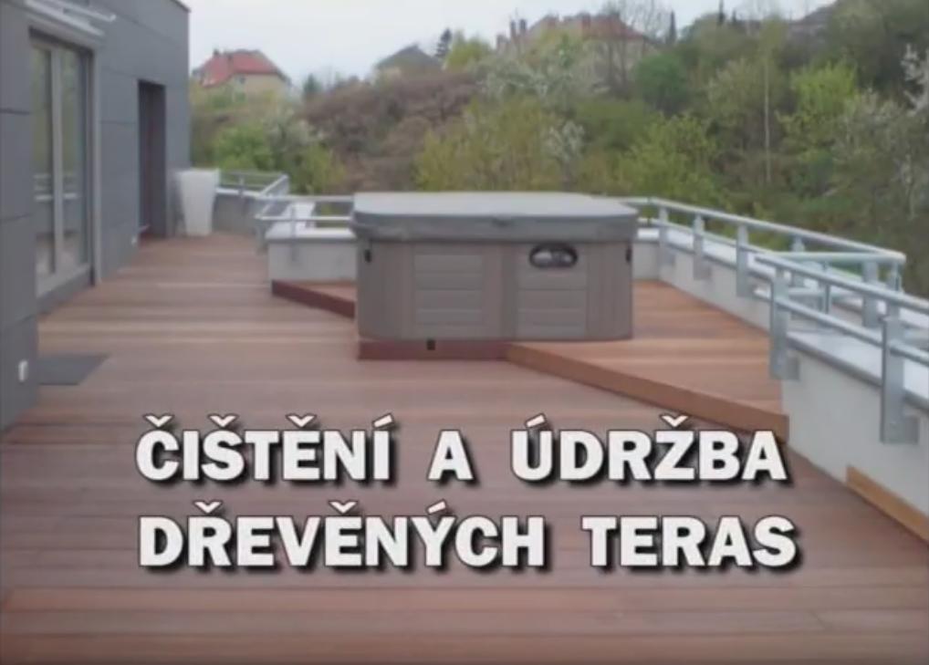 Videonávod na čištění a údržbu dřevěných teras s výrobky OSMO