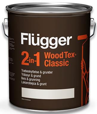 Flügger WOOD TEX® CLASSIC 2v1 - dříve 2v1 CLASSIC (Aklydový azurovací lak na dřevo)