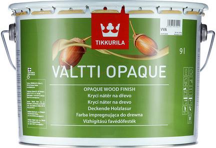 Tikkurila VALTTI OPAQUE (Vodou ředitelná silnovrstvá akrylátová krycí barva na dřevo)