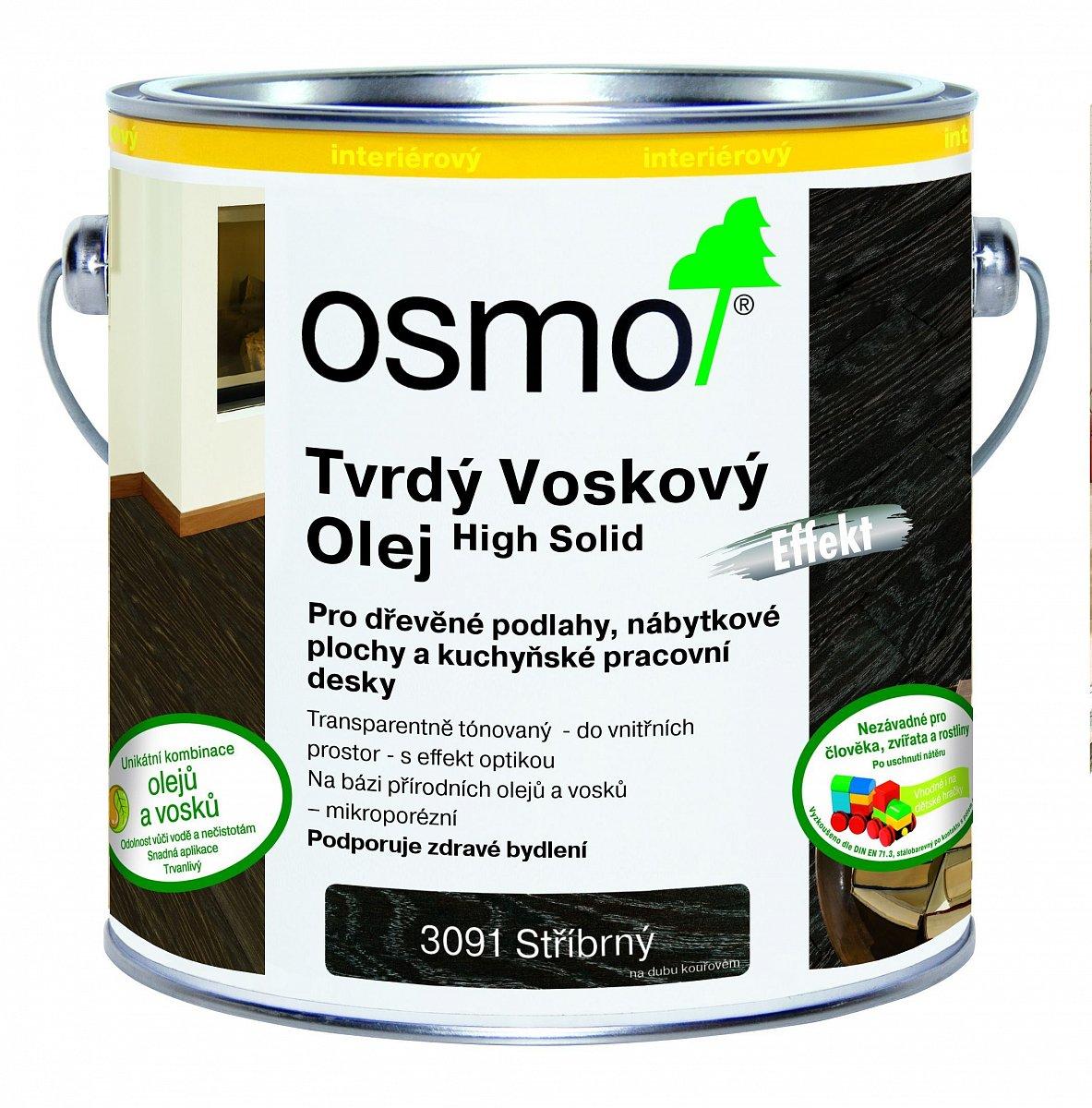 Tvrdý voskový olej EFEKT stříbrná/zlatá