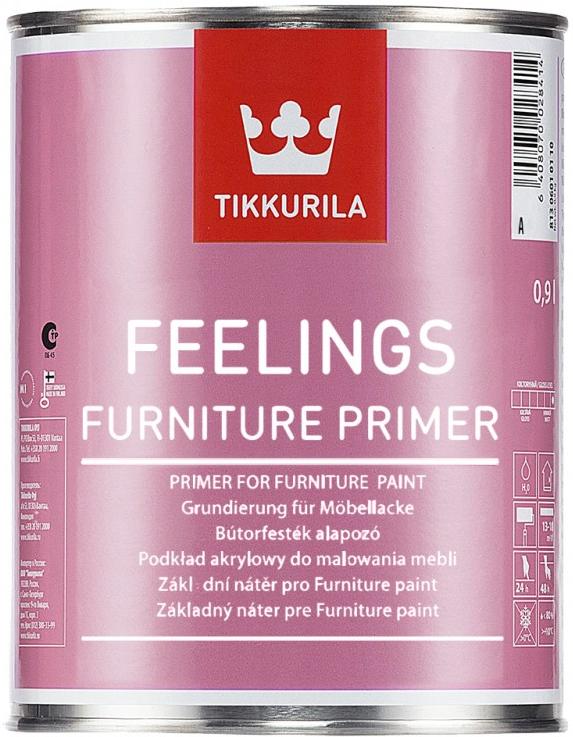 Tikkurila FEELINGS FURNITURE PRIMER (Akrylátový základ na dřevěné povrchy v interiéru)