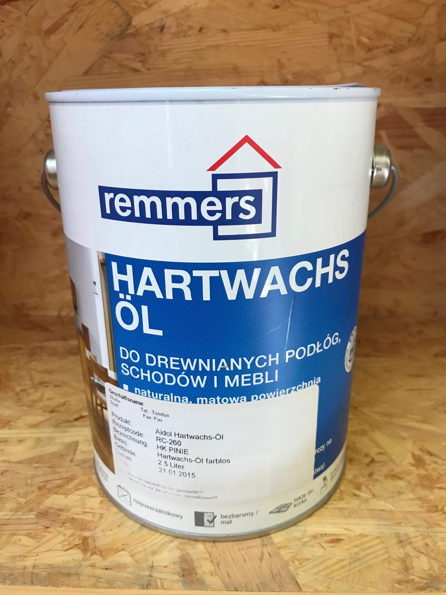 Hartwachs-Öl - tvrdý voskový olej