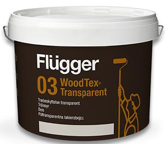 Flügger WOOD TEX® AQUA 03 TRANSPARENT - dříve 95 AQUA (Středněvrstvý vodou ředitelný aklydový lazurovací lak na dřevo)