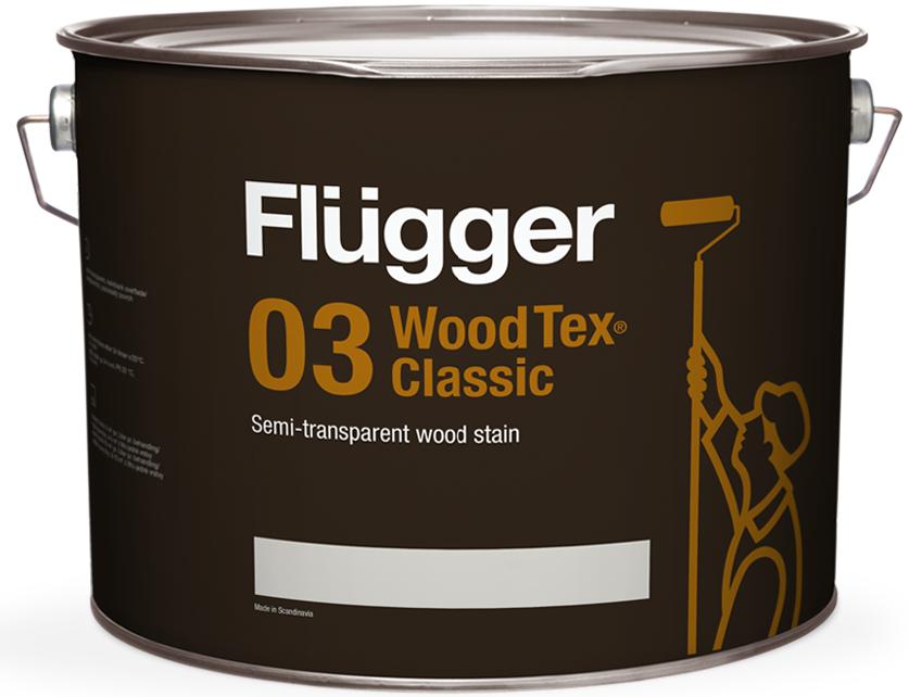 Flügger WOOD TEX® CLASSIC 03 SEMI-TRANSPARENT - dříve 96 CLASSIC (Tixotropní lazurovací lak na dřevo)