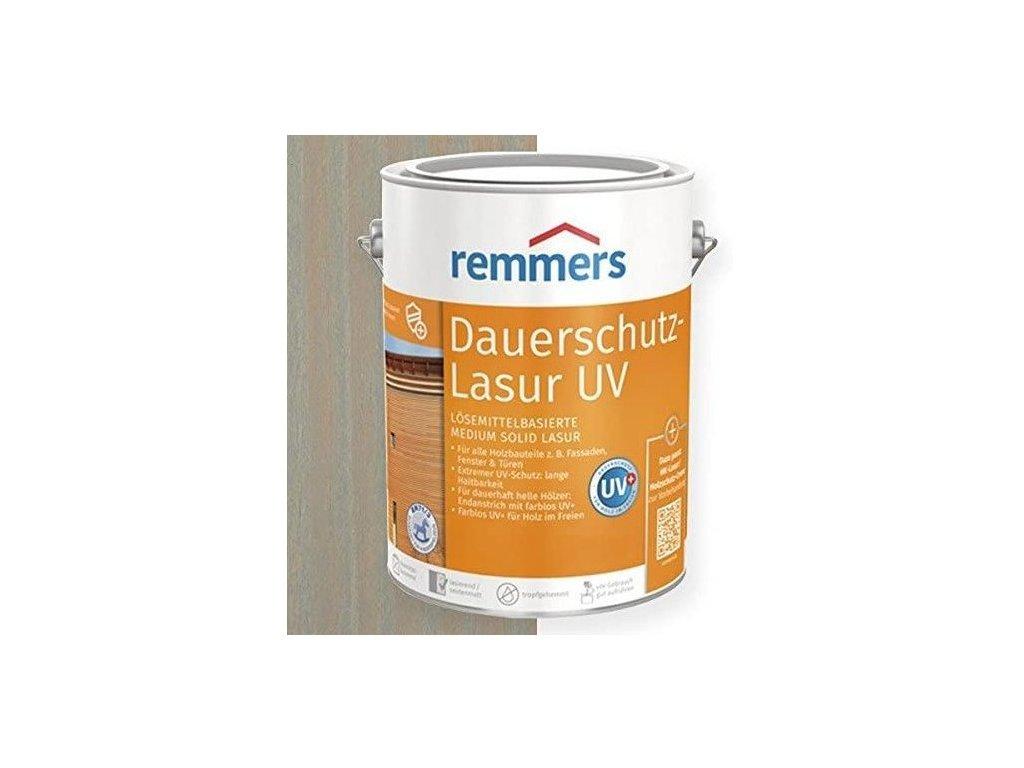 Remmers Dauerschutz Lasur UV (Dříve Langzeit Lasur) 20L silbergrau-stříbrná šedá 2257  + dárek v hodnotě až 200 Kč zdarma k objednávce