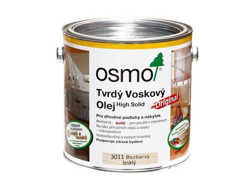 Osmo Original tvrdý voskový olej 2,5L 3011 lesklý  + dárek v hodnotě až 250 Kč k objednávce