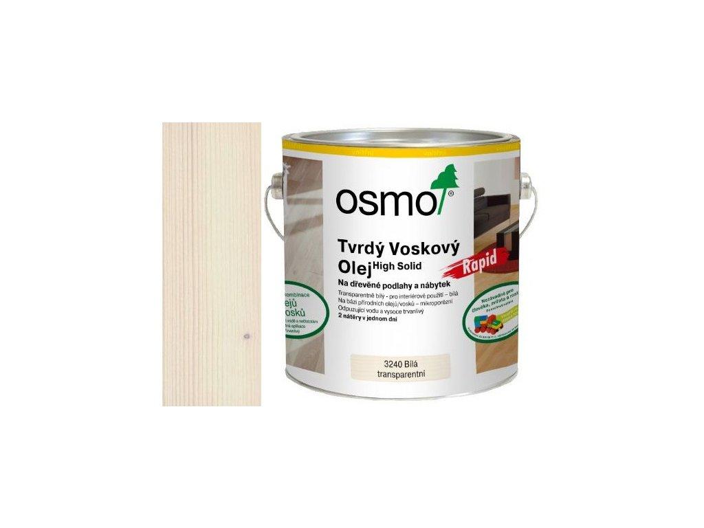 Osmo Tvrdý voskový olej RAPID 2,5L 3240 transparentní bílý  + dárek v hodnotě až 250 Kč k objednávce
