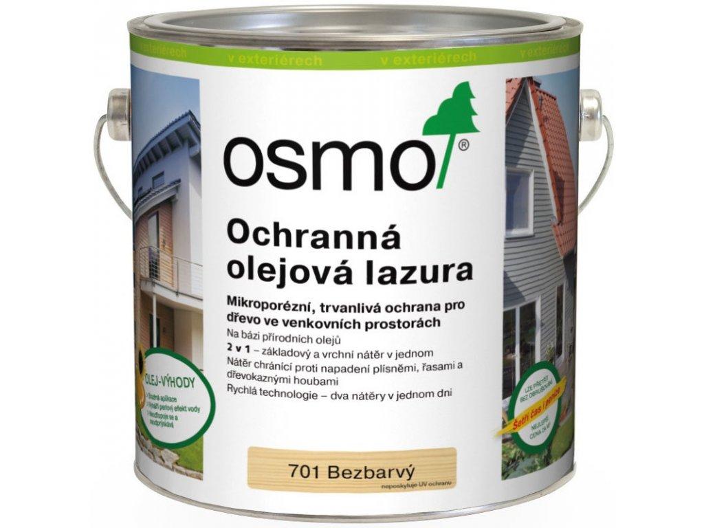 Osmo Ochranná olejová lazura 25L BEZBARVÁ 701  + dárek v hodnotě až 1000 Kč k objednávce