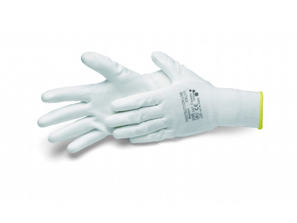 3152515 1 rukavice paintstar bile plocha dlane potazena polyuretanem vel 9 l