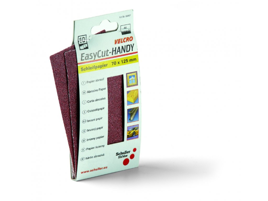 3154243 1 10 ks brusny papir velcut na suchy zip na drzak 40150 70 x 125 mm zrnitost 80