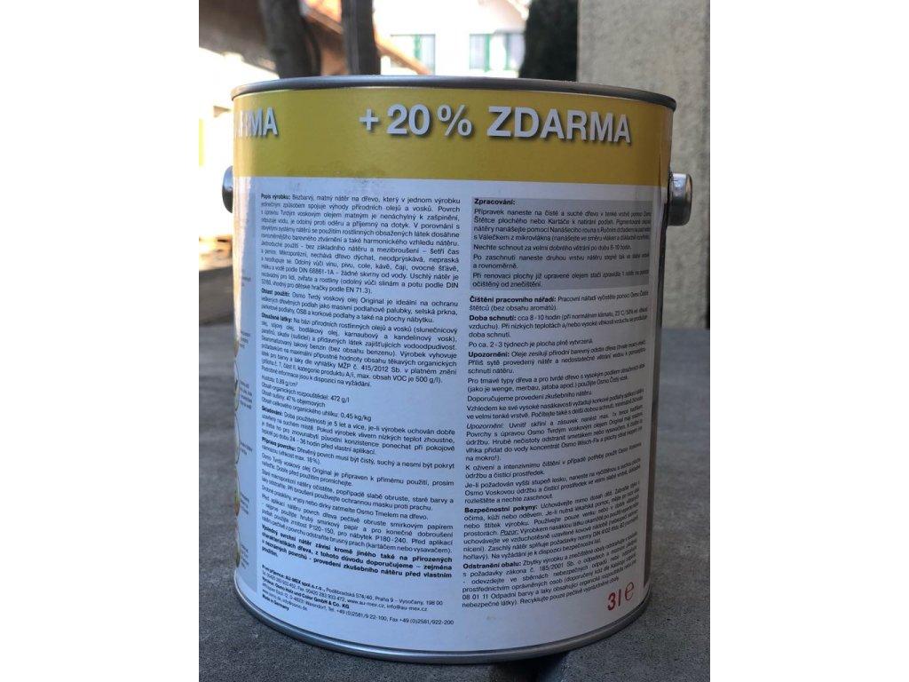 3159079 1 osmo tvrdy voskovy olej original 3l bezbarvy matny 3062