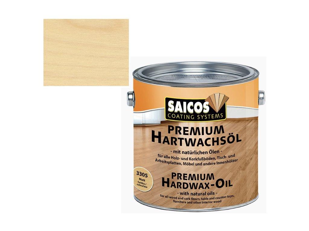 Saicos tvrdý voskový olej Premium BEZBARVÝ MAT 3305 (Velikost balení 25 l)