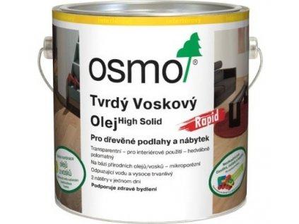 Osmo tvrdý voskový olej RAPID 2,5L 3262 bezbarvý matný  + dárek v hodnotě až 250 Kč k objednávce
