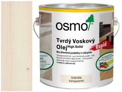 Osmo tvrdý voskový olej RAPID 0,75L 3240 transparentní bílý  + dárek v hodnotě až 250 Kč k objednávce