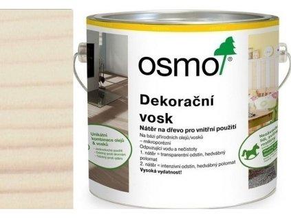 Osmo Dekorační vosk intenzivní odstíny 2,5L 3186 Bílá matná  + dárek v hodnotě až 250 Kč k objednávce