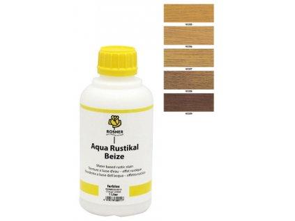 Rosner Aqua-Rustical Beize mořidlo 10 L (pro listnaté dřeviny) (bar. odstín aqua rustikal 93339)