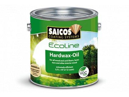 Saicos Ecoline Tvrdý voskový olej - hedvábně matný bezbarvý (Velikost balení 2,5 l)