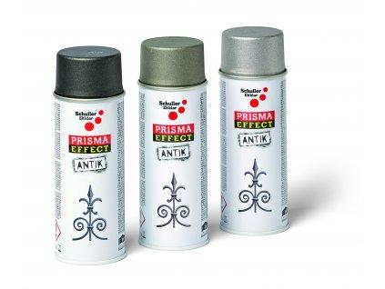Sprej PRISMA EFFECT ANTIK grafitově šedá, 400 ml (Objednat 18ks)