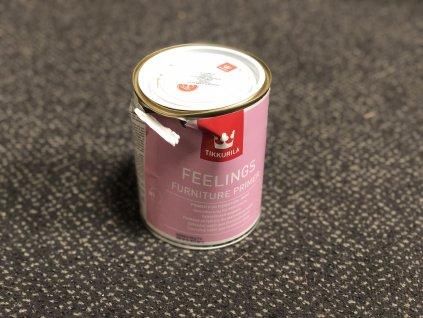 POMAČKANÁ PLECHOVKA - Feelings Furniture Primer Mat - bílá 0,9L (Základní, vodou ředitelná barva na dřevo)