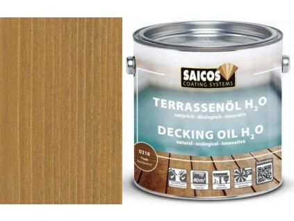 Saicos- TERRASENÖL H2O (Terasový olej na vodní bázi transparentní) 0318 - teak