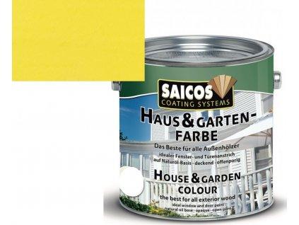 Saicos barva pro dům a zahradu žluť citrónová 2112; 2,5L