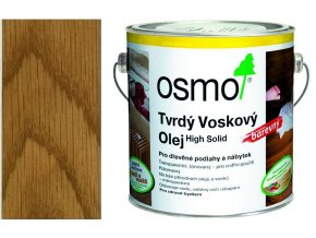 Osmo tvrdý voskový olej BAREVNÝ 2,5l Medová 3071  + dárek v hodnotě až 200 Kč zdarma