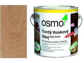 Osmo tvrdý voskový olej BAREVNÝ 2,5L světle šedá 3067  + dárek v hodnotě až 200 Kč zdarma