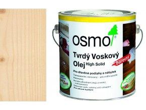 Osmo tvrdý voskový olej BAREVNÝ 2,5l transparentně bílá 3040  + dárek v hodnotě až 200 Kč zdarma