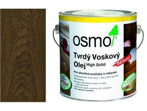 Osmo tvrdý voskový olej BAREVNÝ 2,5l Černá 3075  + dárek v hodnotě až 200 Kč zdarma