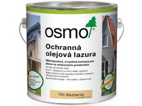 Osmo Ochranná olejová lazura 2,5l BEZBARVÁ 701  + dárek v hodnotě až 200 Kč zdarma