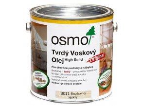 Osmo tvrdý voskový olej ORIGINAL 2,5l BEZBARVÁ, lesklý 3011  + dárek v hodnotě až 200 Kč + při odběru více než 2ks SLEVA 10%