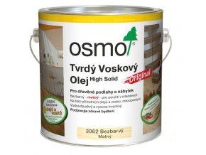 Osmo tvrdý voskový olej ORIGINAL 25l BEZBARVÁ, mat 3062  + dárek v hodnotě až 1000 Kč + při odběru více než 2ks SLEVA 10%
