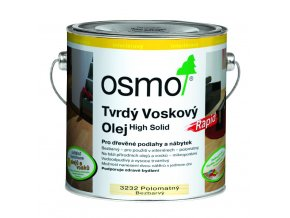 Osmo tvrdý voskový olej RAPID 2,5l BEZBARVÁ hedv. polomat 3232  + dárek v hodnotě až 200 Kč k objednávce