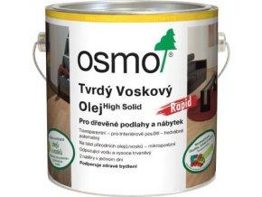 Osmo tvrdý voskový olej RAPID 0,75l BEZBARVÁ, matný 3262  + k objednávce