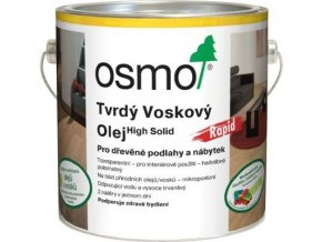 Osmo tvrdý voskový olej RAPID 2,5l BEZBARVÁ, matný 3262  + dárek v hodnotě až 200 Kč zdarma