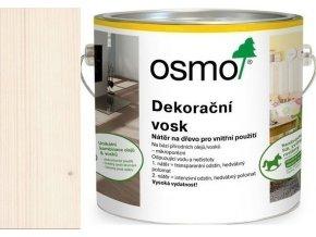 Osmo dekorační vosk intenzivní odstíny 2,5l Sníh 3188  + dárek v hodnotě až 200 Kč zdarma