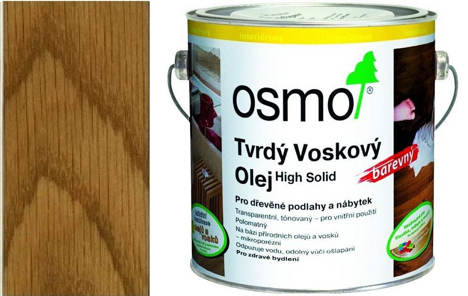 Osmo tvrdý voskový olej BAREVNÝ 2,5l Medová 3071