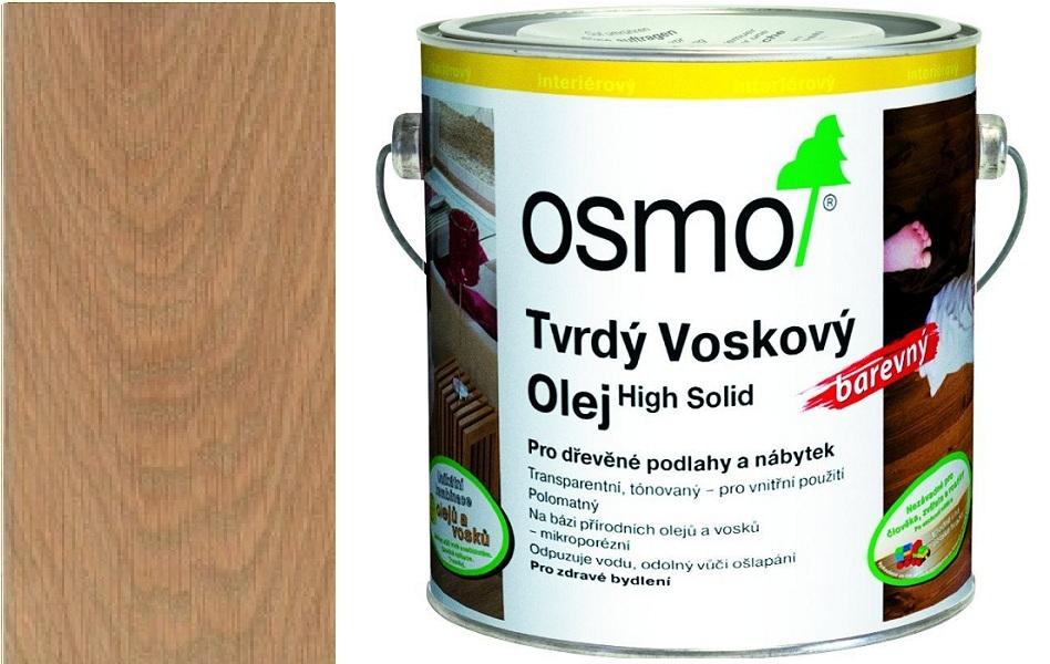 Osmo tvrdý voskový olej BAREVNÝ 2,5L světle šedá 3067