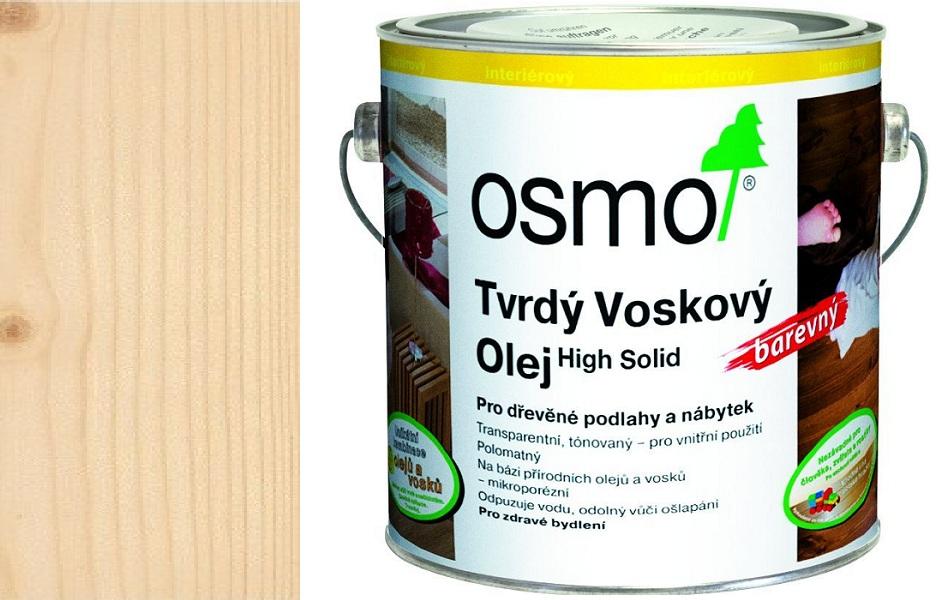 Osmo tvrdý voskový olej BAREVNÝ 2,5l transparentně bílá 3040