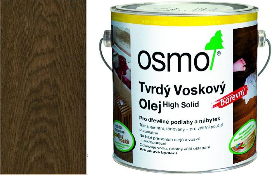 Osmo tvrdý voskový olej BAREVNÝ 2,5l Černá 3075
