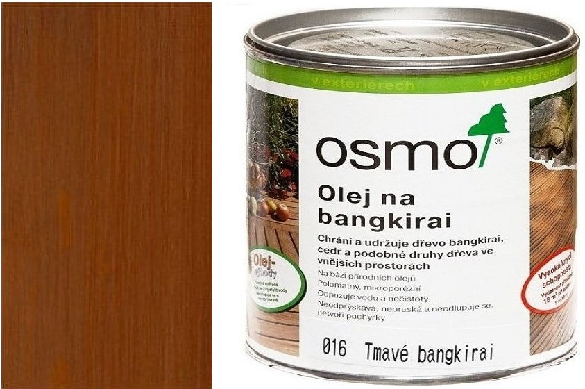 Osmo terasový olej 25l bangkirai olej tmavý .016