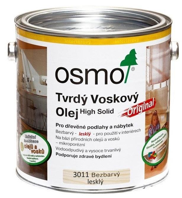 Osmo tvrdý voskový olej ORIGINAL 10l BEZBARVÁ, lesklý 3011
