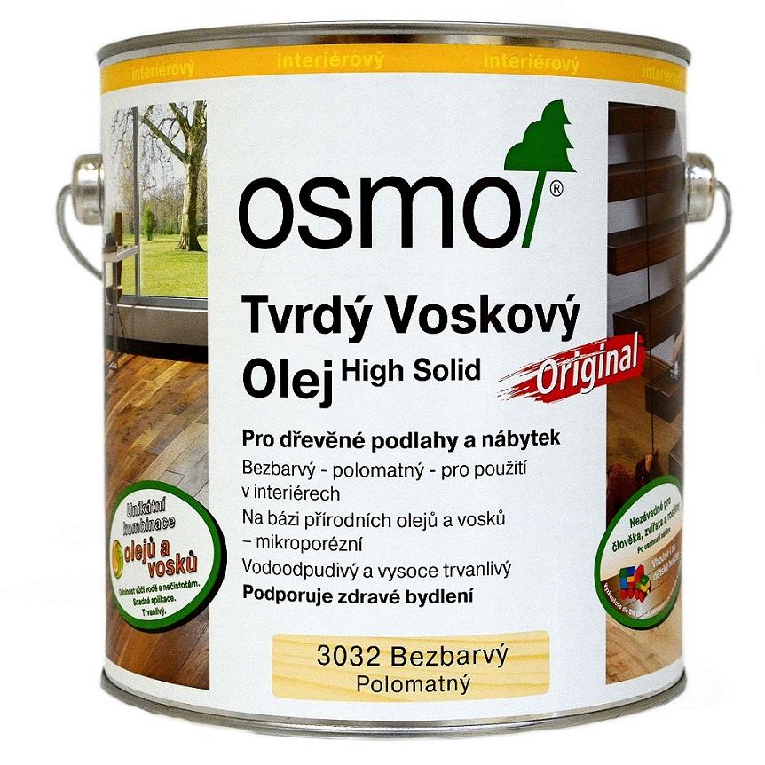 Osmo tvrdý voskový olej ORIGINAL 0,75l BEZBARVÁ, hedváb. polomat 3032
