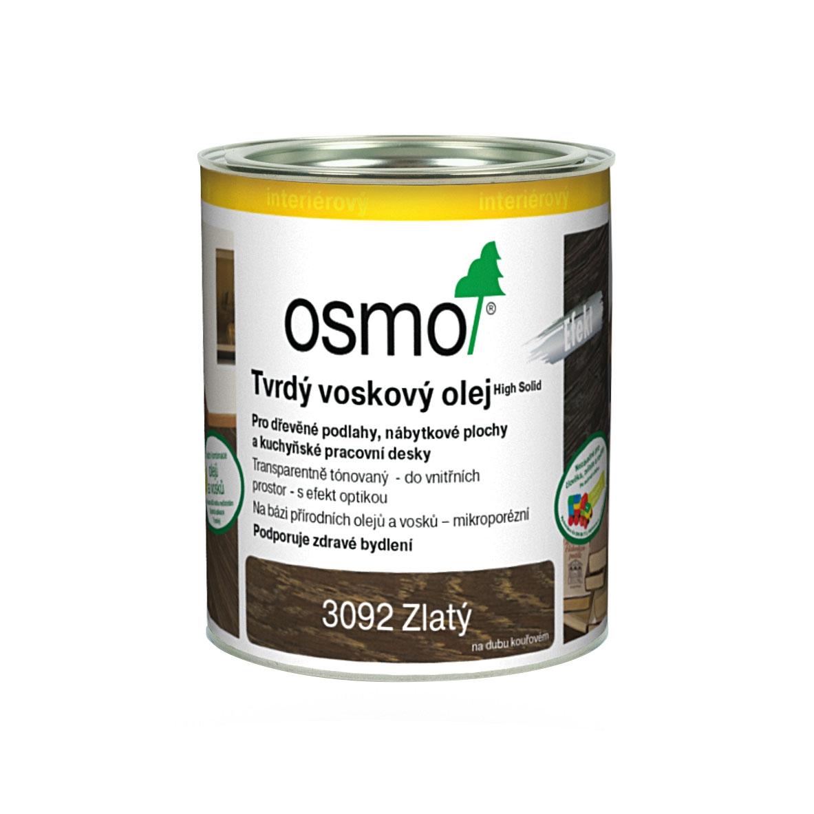 Osmo tvrdý voskový olej EFEKT 2,5l zlatý 3092
