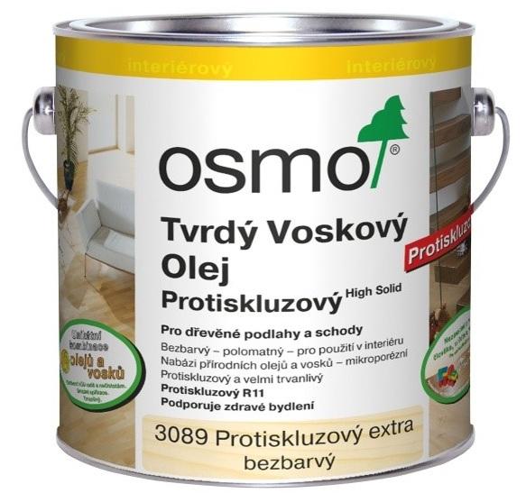Osmo tvrdý voskový olej SILNĚ protiskluzový 2,5l BEZBARVÁ 3089