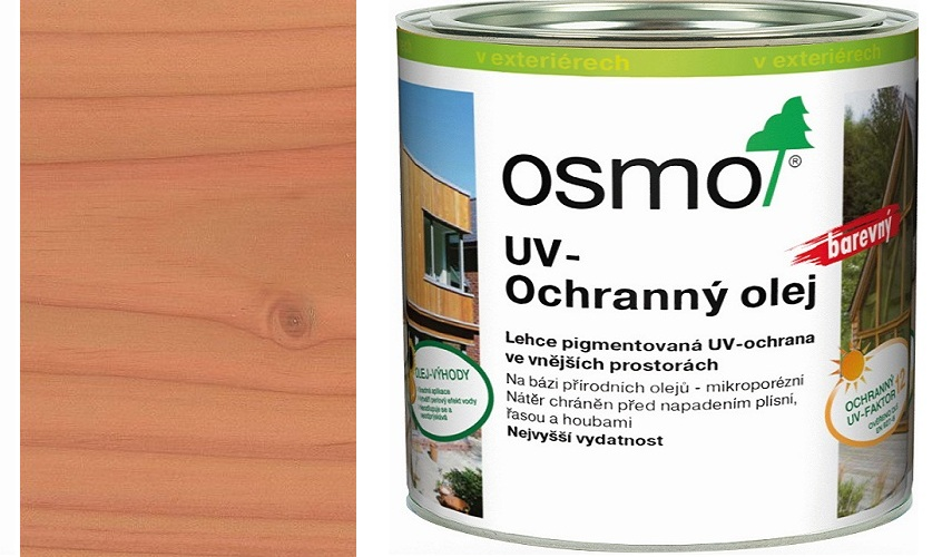 Osmo UV ochranný olej 2,5l douglaska polomatný s ochranou nátěru 427